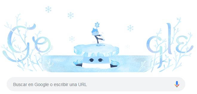 Google da la bienvenida al solsticio de invierno con un doodle