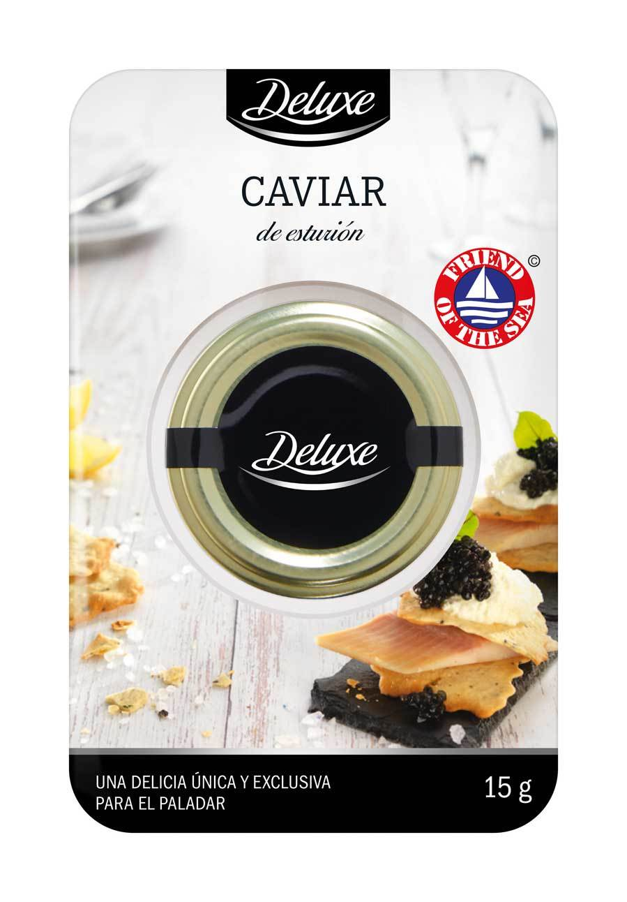 Caviar de esturión certificado Friend Of The Sea, de Deluxe, Lidl...
