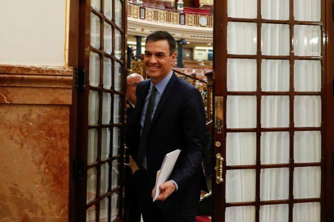 Pedro Sánchez, en una sesión de control.