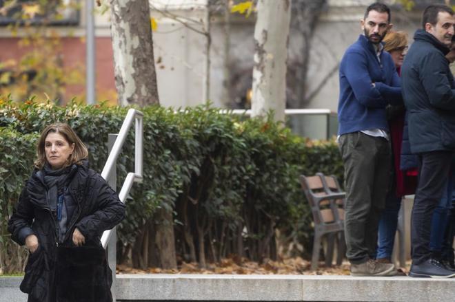 Rosalía Iglesias, en las inmediaciones de la Audiencia Nacional.