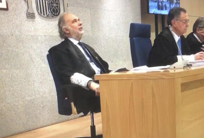 El magistrado Julio de Diego, durante una de la jornadas del juicio...