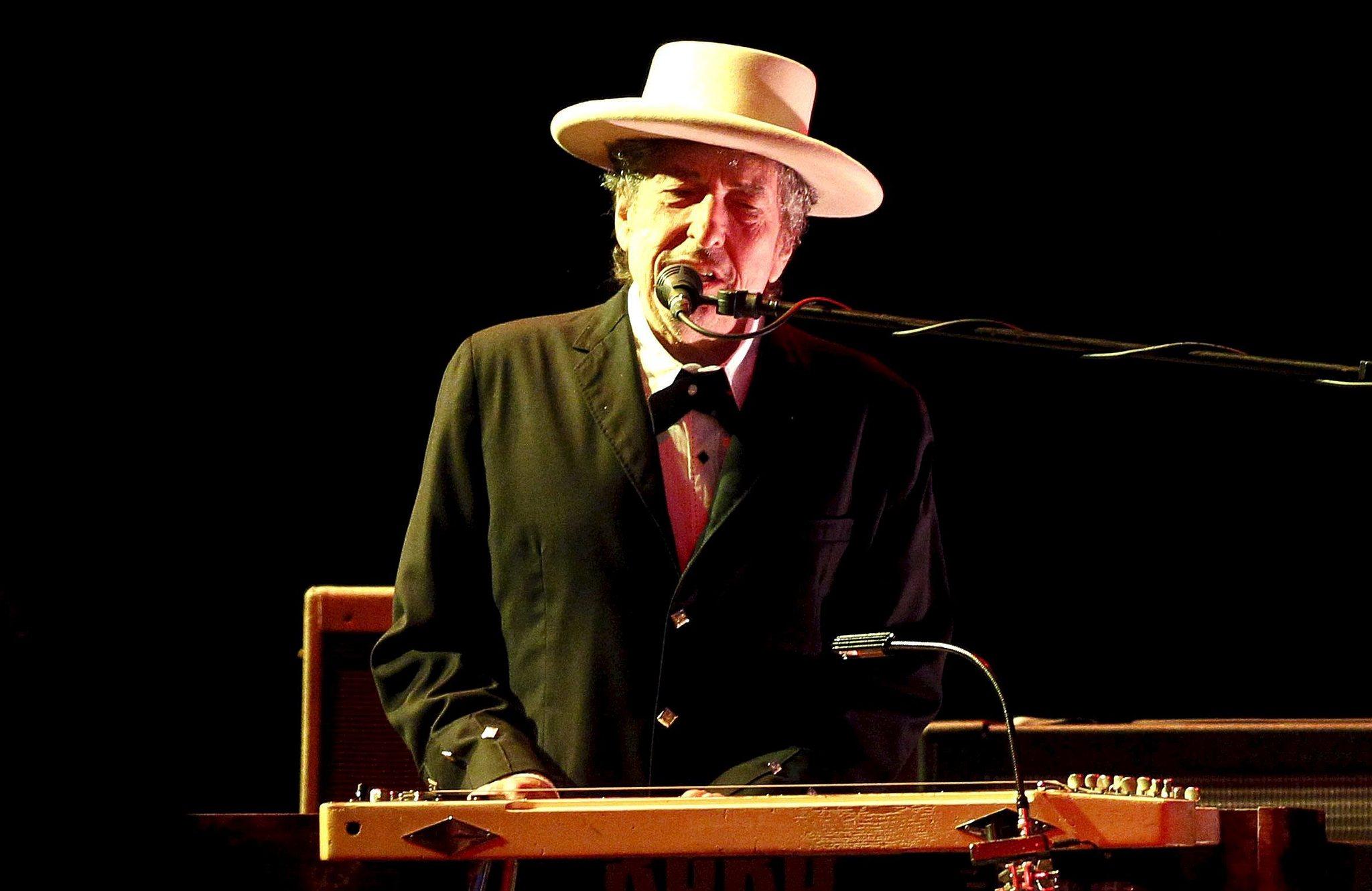 El catante estadounidense, Bob Dylan.
