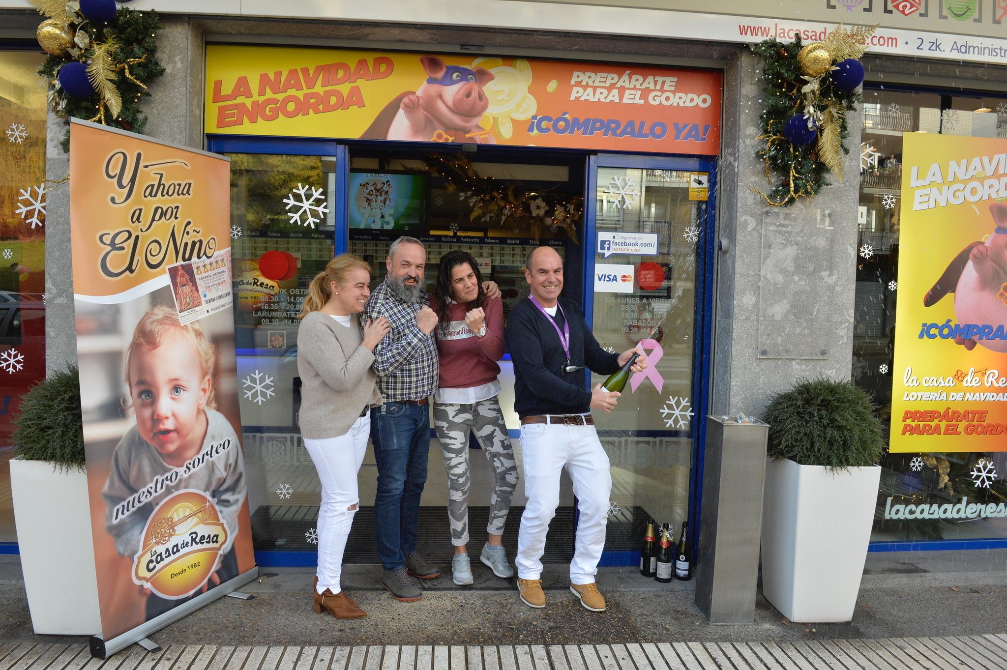 El cuarto premio de la Lotería de Navidad, íntegro en Llodio ...