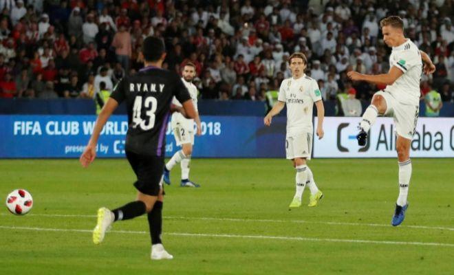 Llorente, en el disparo que valió el 2-0 del Madrid en la final ante el Al Ain.