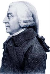 Ilustración del filósofo escocés Adam Smith.