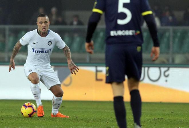 Radja Nainggolan, durante el duelo del Inter ante el Chievo Verona.