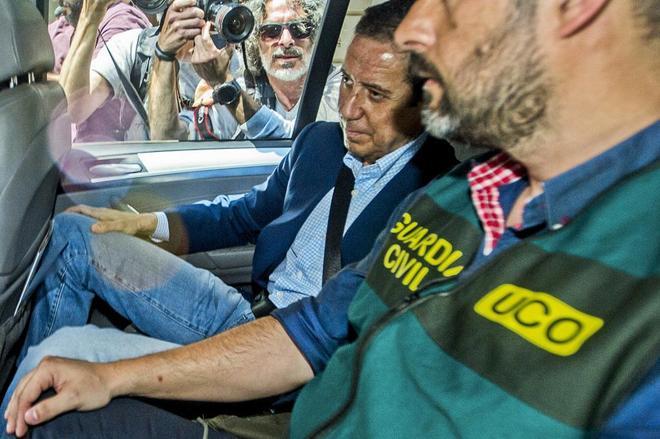 Eduardo Zaplana, el día de su detención, el pasado mayo.