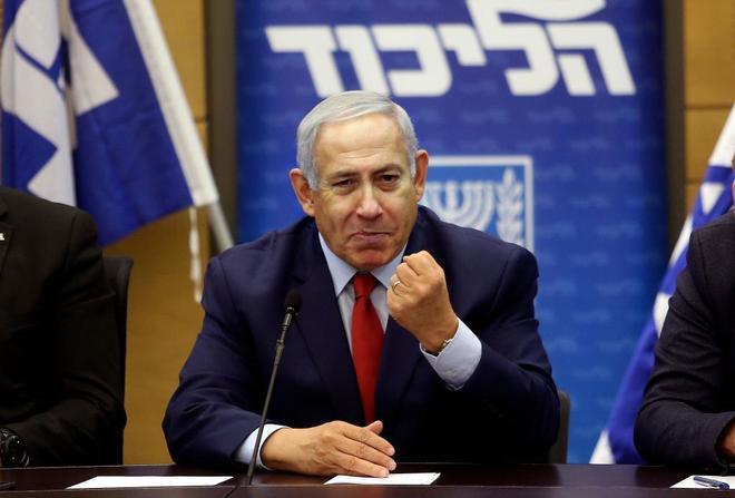El primer ministro israelí Benjamin Netanyahu, en el parlamento.