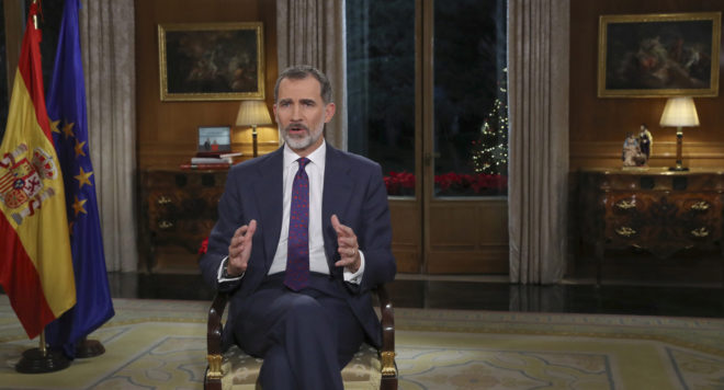Felipe VI pronuncia su tradicional Mensaje de Navidad.