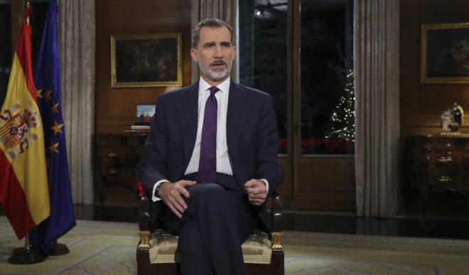 Felipe VI pronuncia su Mensaje de Navidad.