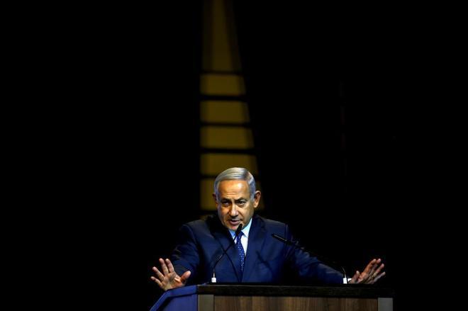 Benjamin Netanyahu, en una reunión con los medios cristianos de Israel.