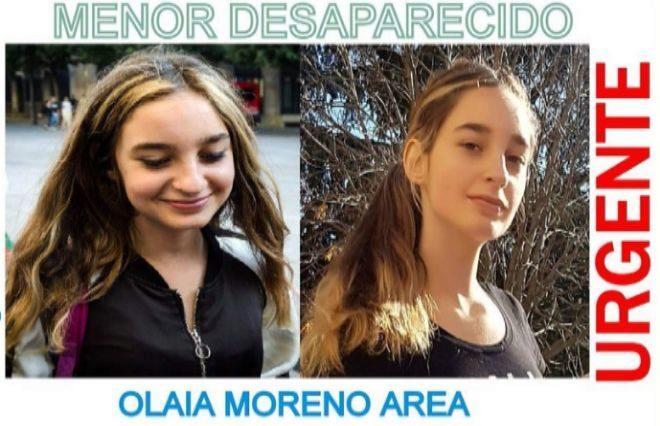 Fotografías de Olaia Moreno difundidas por la Guardia Civil para encontrar a la joven.