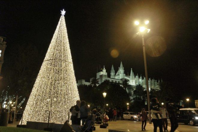 Decoración navideña en Palma.