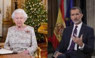 Discursos de Navidad de Isabel II y Felipe VI.