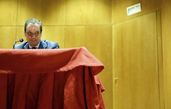 El ex presidente de la Comunidad Valencia, Eduardo Zaplana, durante...
