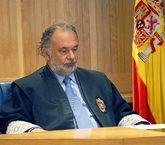 El juez Julio de Diego López, durante una vista en la Audiencia...