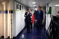 El presidente del Gobierno, Pedro Sánchez, el pasado 24 de diciembre en  la base de Rota