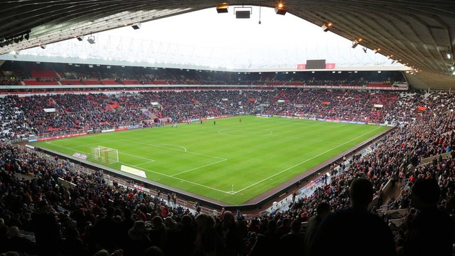 El Stadium of Light, antes del partido del Sunderland ante el Bradford City.