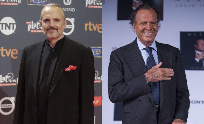 Miguel Bosé y Julio Iglesias.