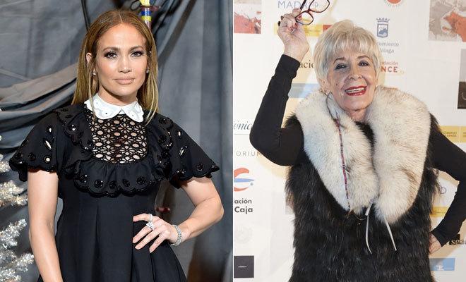 Jennifer Lopez y Concha Velasco.