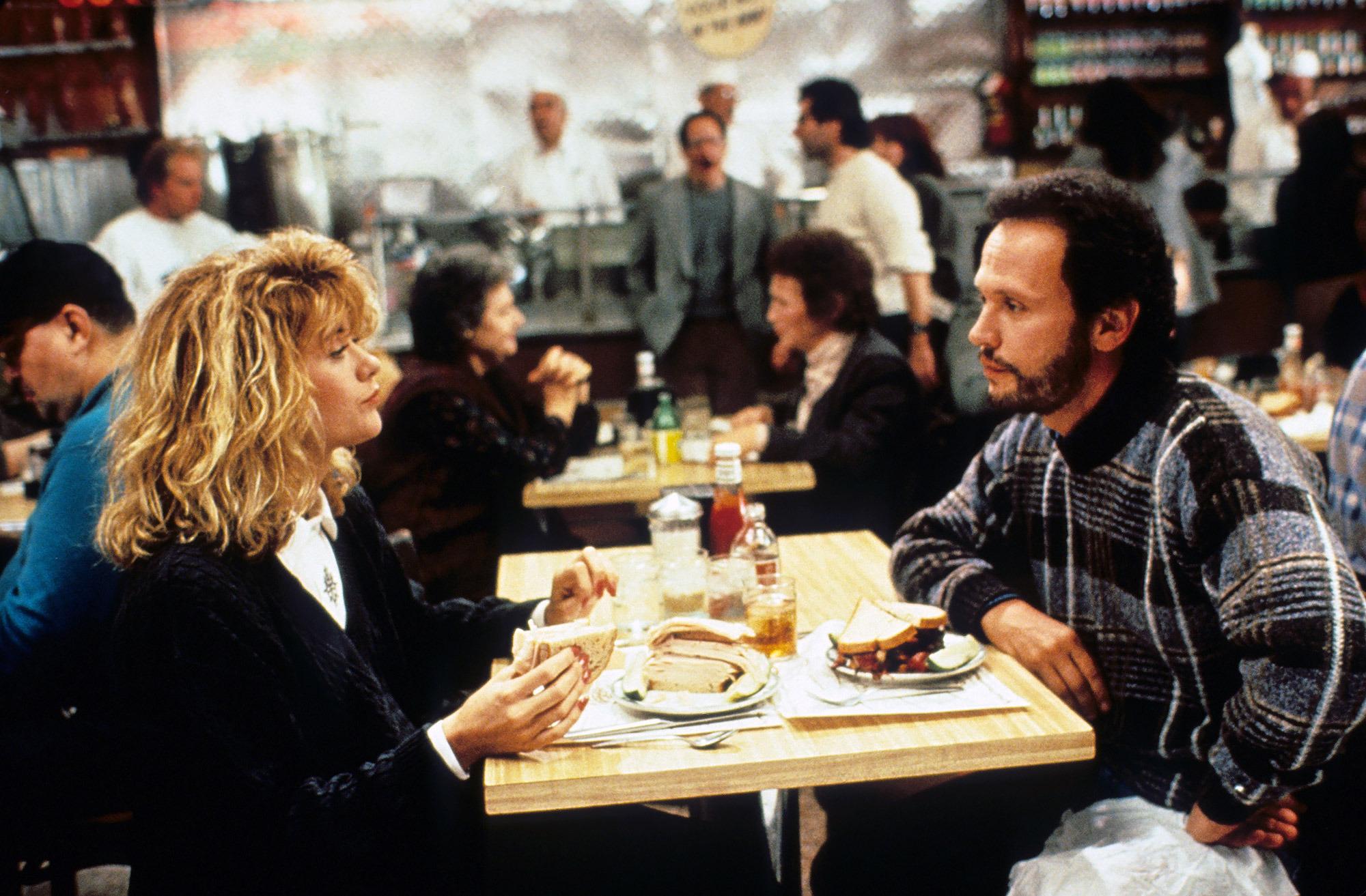 Meg Ryan y Billy Crystal en Cuando Harry encontró a Sally