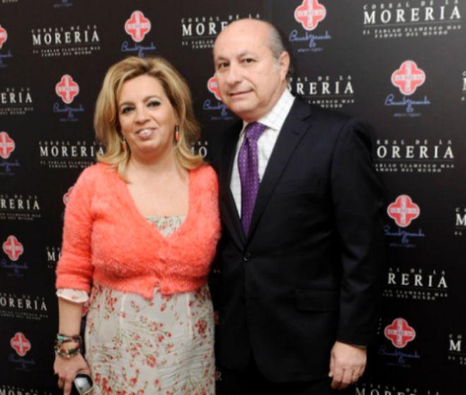 Carmen Borrego, hija de María Teresa Campos, y su pareja, José Carlos Bernal, en los premios Pata Negra.