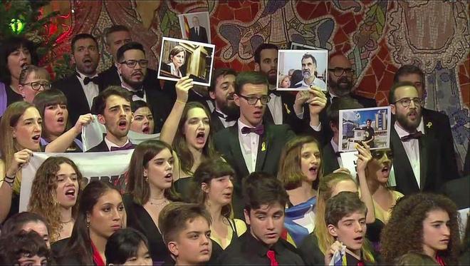 Los independentistas convirtieron el tradicional concierto de San...