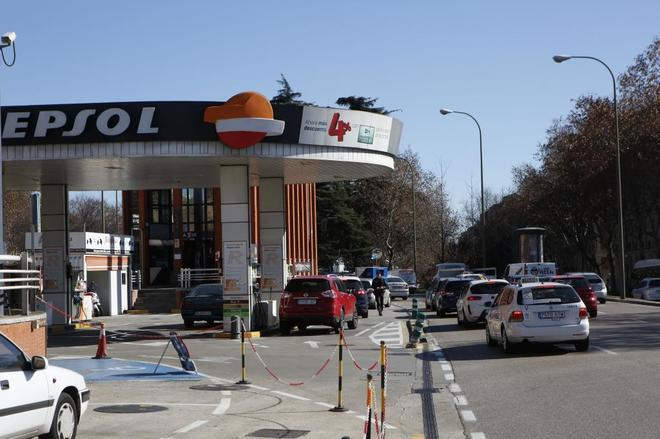 Gasolinera cercana a la estación de Atocha.
