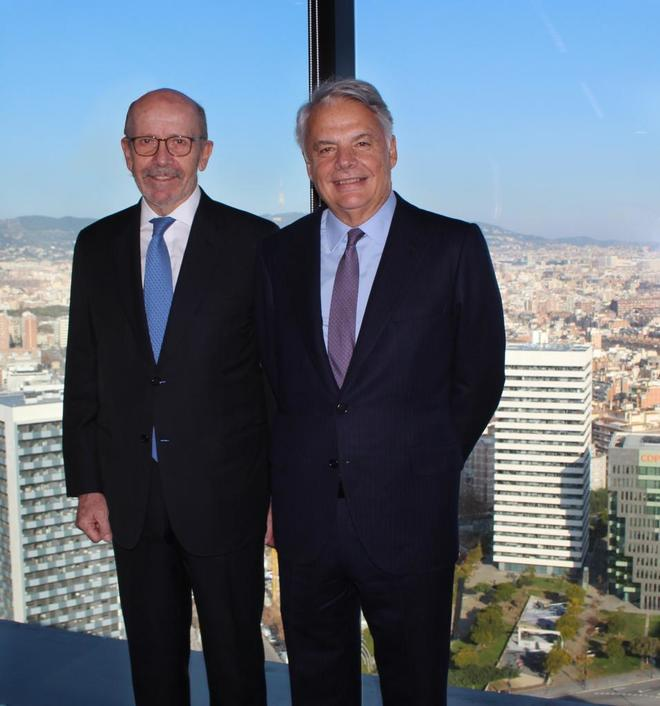 Garralda, presidente del Grupo Mutua, y Díaz-Morera, presidente EDM.
