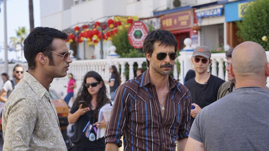 Jesús Castro y Hugo Silva en el rodaje de Brigada Costa del Sol, una...