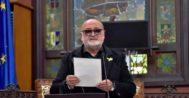 El escritor y pregonero de la edición de este año de la Festa de l'Estendard de Palma, Biel Mesquida.