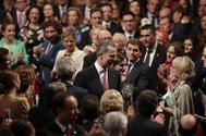 El Rey Felipe VI y la Reina Letizia, a su entrada en Teatro Campoamor de Oviedo para la entrega de los Premios Princesa de Asturias, el pasado mes de octubre
