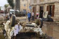 Destrozos ocasionados por las inundaciones en Sant Llorenç.