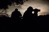 Miembros del Escuadrón de Cazadores de Calabria en una operación de...