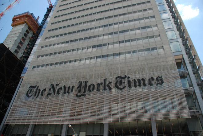 Fachada de la redacción del periódico 'New York Times'.