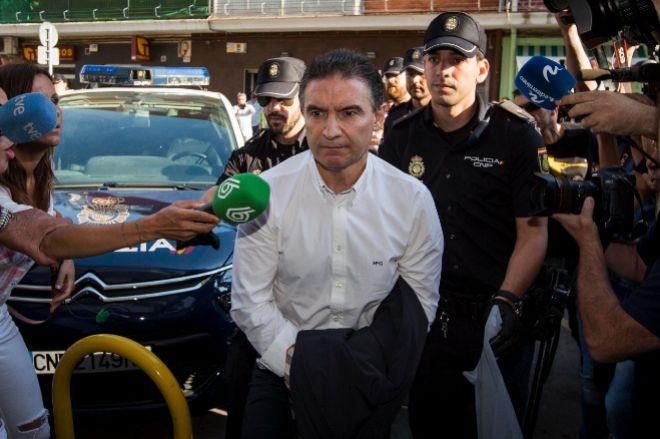 El exdelegado del Gobierno Serafín Castellano el día de su detención.