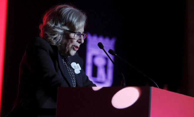 La alcaldesa de Madrid, Manuela Carmena, en un acto este diciembre.