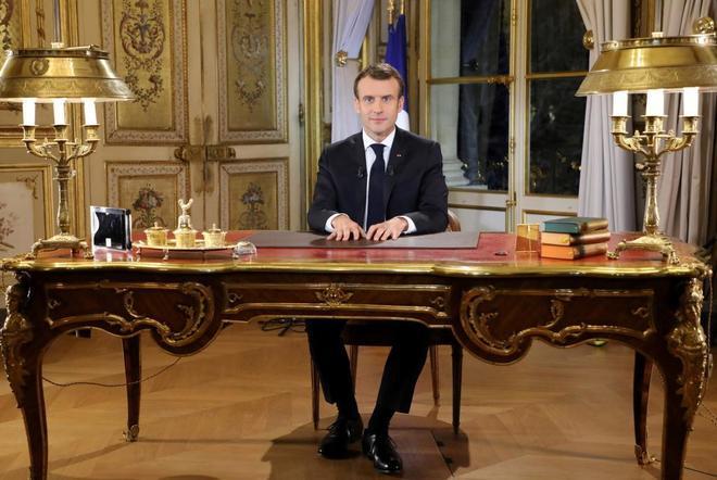 Emmanuel Macron, en su discurso a la nación francesa por las protestas.