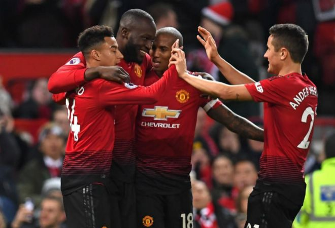 Los jugadores del Manchester United celebran un gol ante el Bournemouth.