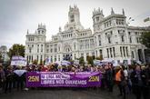 Manifestación en Madrid contra la violencia machista, el pasado...