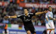 El delantero mexicano Chicharito, durante su etapa en el Real Madrid.