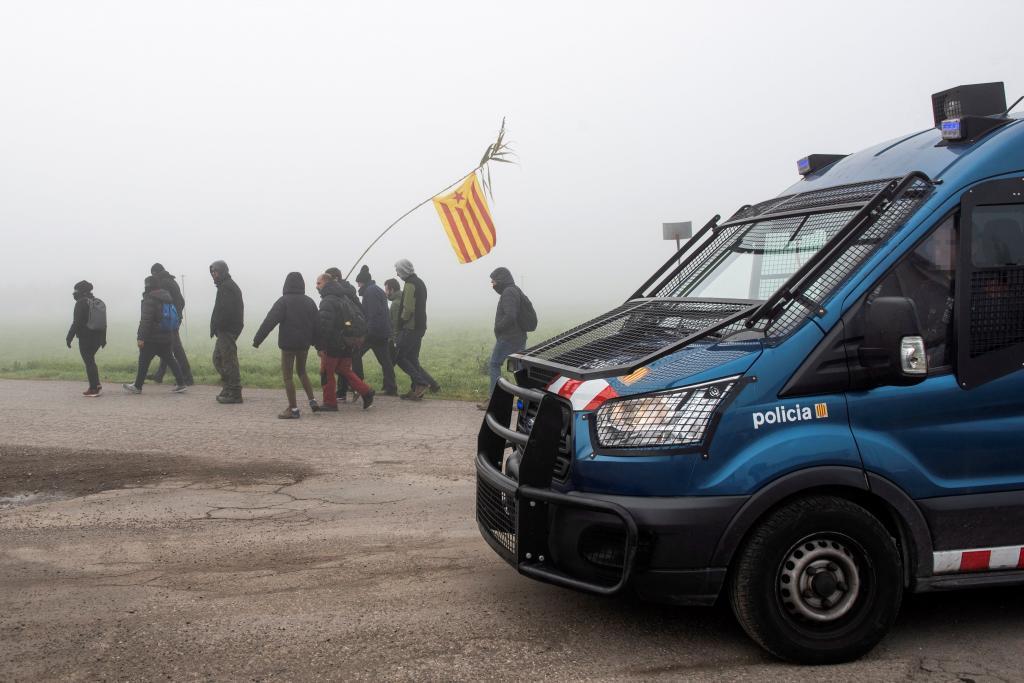 CDR protestan cerca de la autovía A-2 en Alcarràs (Lleida) el pasado 21 de diciembre