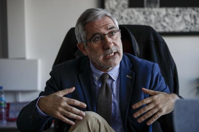Gaspar Llamazares, durante una entrevista con EL MUNDO el pasado diciembre.