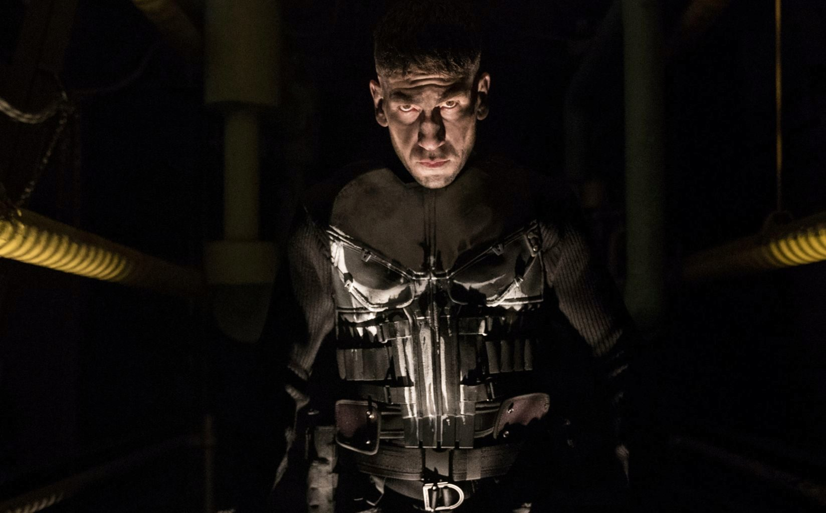 Jon Bernthal en la primera temporada de The Punisher, la serie de...
