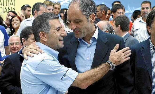 El ex presidente de la Generalitat Francisco Camps con Jorge Martínez Aspar.
