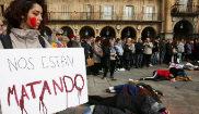 Concentración en la Plaza Mayor de Salamanca por el asesinato de...