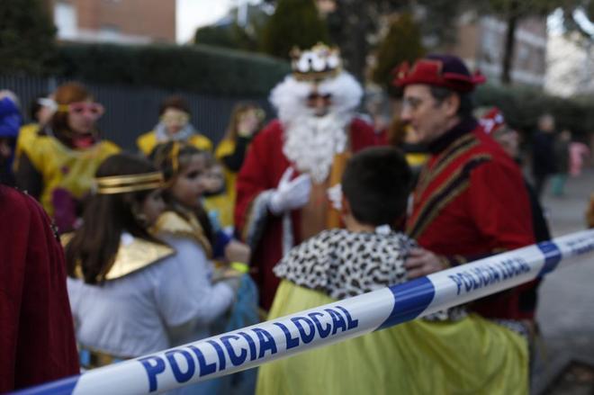 Medidas de seguridad en la cabalgata de Reyes de Chamartín.