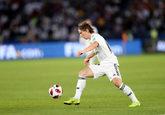 El jugador del Real Madrid Luka Modric durante el último partido del...