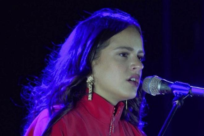 La cantante catalana Rosalía, durante un concierto.