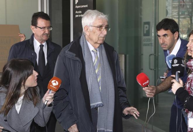 Daniel Osàcar a la salida de los juzgados de Barcelona en abril de 2017